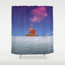 atmosphere 56 · Schizophrenia Shower Curtain
