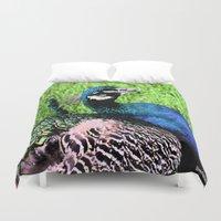 peacock Duvet Covers featuring Peacock by BeachStudio