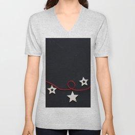 Stars on a Red Rope (Color) Unisex V-Neck