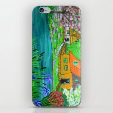 Cottages by the lake  iPhone Skin