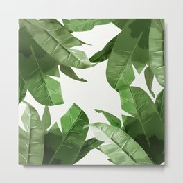 Tropical Palm Print Treetop Greenery Metal Print