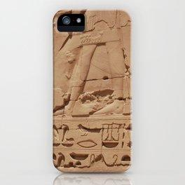 Ancient Egyptian hieroglyphics, Luxor, Egypt iPhone Case
