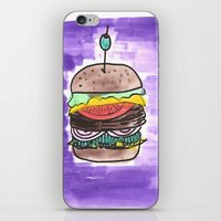 hamburger iPhone & iPod Skins featuring hamburger by yayanastasia