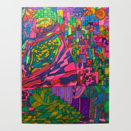 Many Exciting Shapes and Colors All in One Poster
