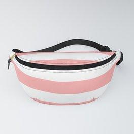 Coral Pink Stripe Horizontal Fanny Pack