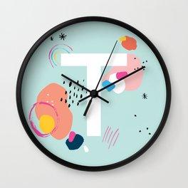 T Monogram Wall Clock