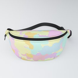 Pretty Pastel Rainbow Colors Camo. Fanny Pack