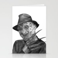 freddy krueger Stationery Cards featuring Freddy Krueger by axemangraphics