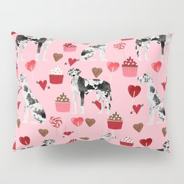 Great Dane valentines day dog person must have gifts to say i ruff you Pillow Sham