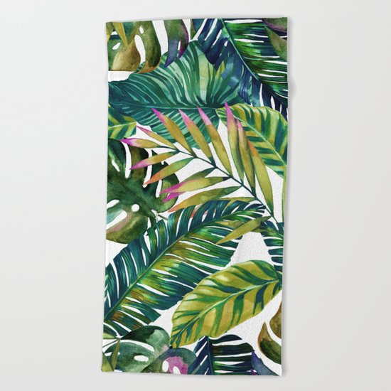 banana life Beach Towel