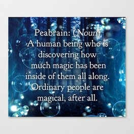 Peabrain Defintion Canvas Print