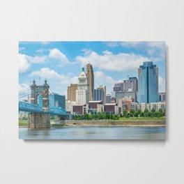 The Cincinnati Skyline Metal Print