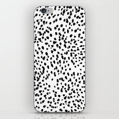 Nadia - Black and White, Animal Print, Dalmatian Spot, Spots, Dots, BW iPhone & iPod Skin