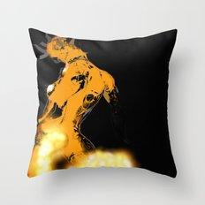 Golden Machine Throw Pillow