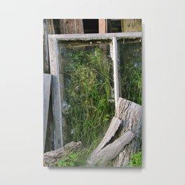Window Framed Flora Metal Print