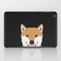 shiba inu iPad Cases featuring Indiana - Shiba Inu gift design for dog lovers and dog people by PetFriendly