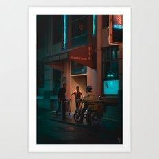 Chinatown Trio, Melbourne Art Print