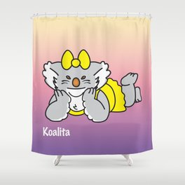 Lying Koalita Shower Curtain