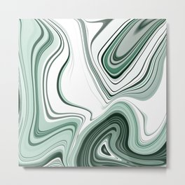 Bold Green Agate Stone Effect Design Metal Print