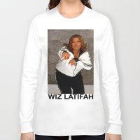 wiz khalifa Long Sleeve T-shirts featuring Wiz Latifah by 6triangles