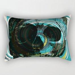 Pop Art Skull Retro 80's Rectangular Pillow