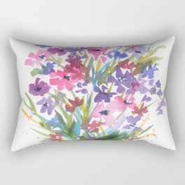 Lavender Mini Fleurs Rectangular Pillow