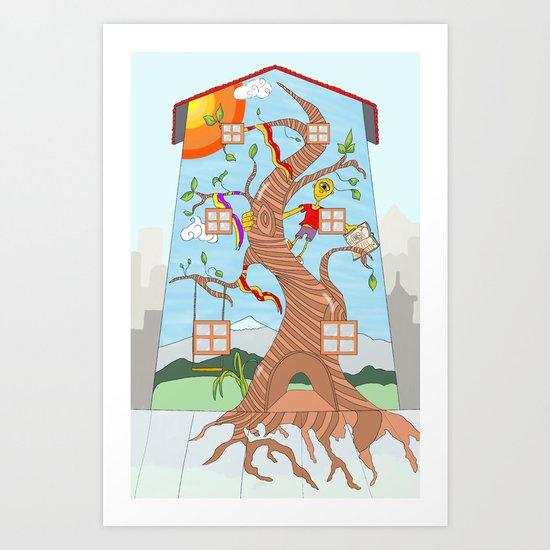Childhood on a wall Art Print