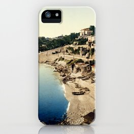 Beach at Marseille, France, ca. 1895 iPhone Case