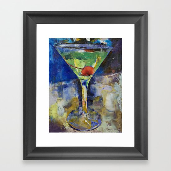 Summer Breeze Martini Framed Art Print