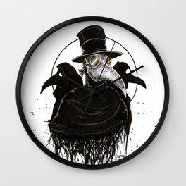 Plague Doctors Wall Clock