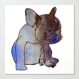 French Bulldog Puppy Cute baby Dog Canvas Print