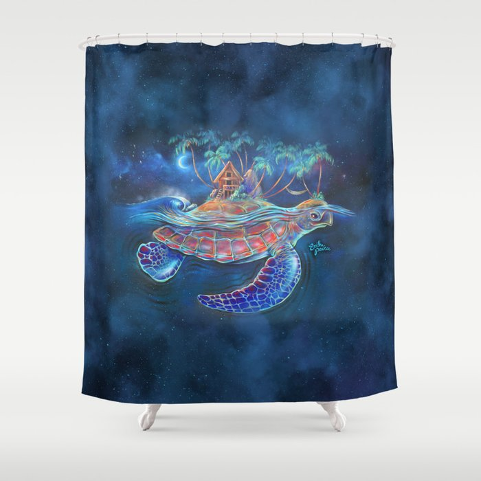 Turtle Dream Island Shower Curtain By Erikapearcenz