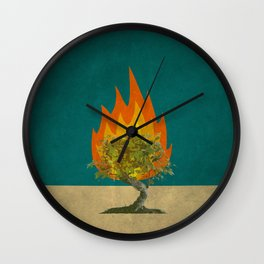 Exodus 3:2 Wall Clock