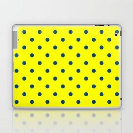 Maize & Blue polka Dots Laptop & iPad Skin