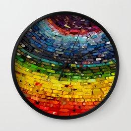Polychromatic Spiral Wall Clock