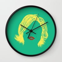 monroe Wall Clocks featuring Monroe by fly fly away