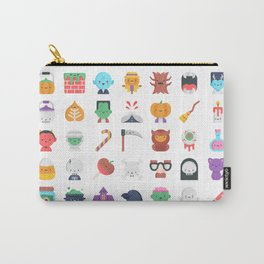 CUTE HALLOWEEN COSTUME FALL PATTERN Carry-All Pouch