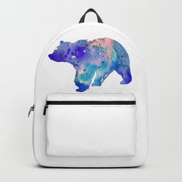 Bear Art Colorful Blue Purple Watercolor Art Gift Animals Lovers Gift Nature Gift Forests Art Backpack