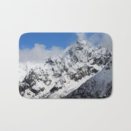 Mountain with snow Bath Mat
