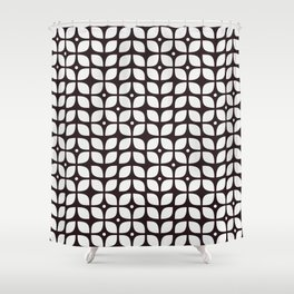 Mid century modern geometric tulip Shower Curtain
