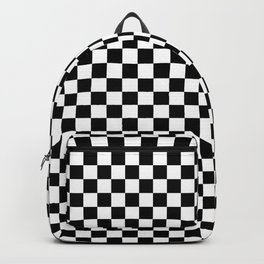 Checker Black and White Backpack
