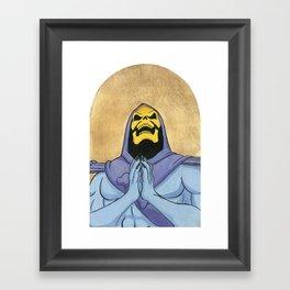 Saint Skeletor Framed Art Print