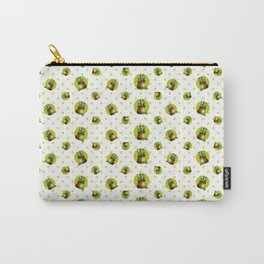"""""""Green Lemon Pattern Succulents Polka Dots"""" Carry-All Pouch"""