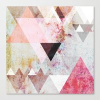 stone Canvas Prints featuring Graphic 3 by Mareike Böhmer