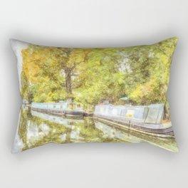 Little Venice London Autumn Art Rectangular Pillow