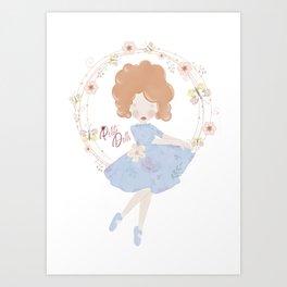 Petite Doll Ballet Art Print