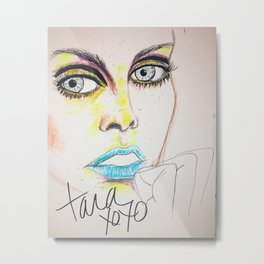 Twiggy in neon Metal Print
