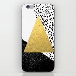 Rexa - gold abstract minimal tribal glitter triangle geometric art cell phone case brooklyn austin  iPhone Skin