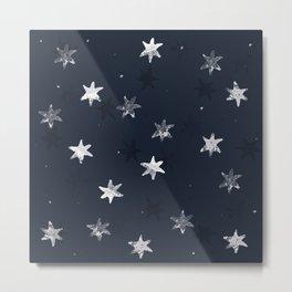 Stamped Star Pattern Metal Print
