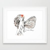 tote bag Framed Art Prints featuring Shadow Fairy Tote bag by TheWaywardSpirit